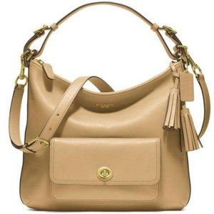 Coach Legacy Courtenay tan leather shoulder bag